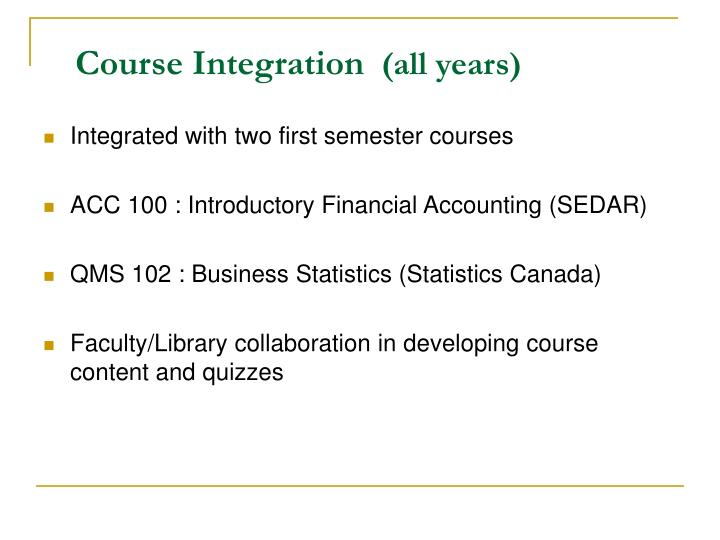 Course Integration