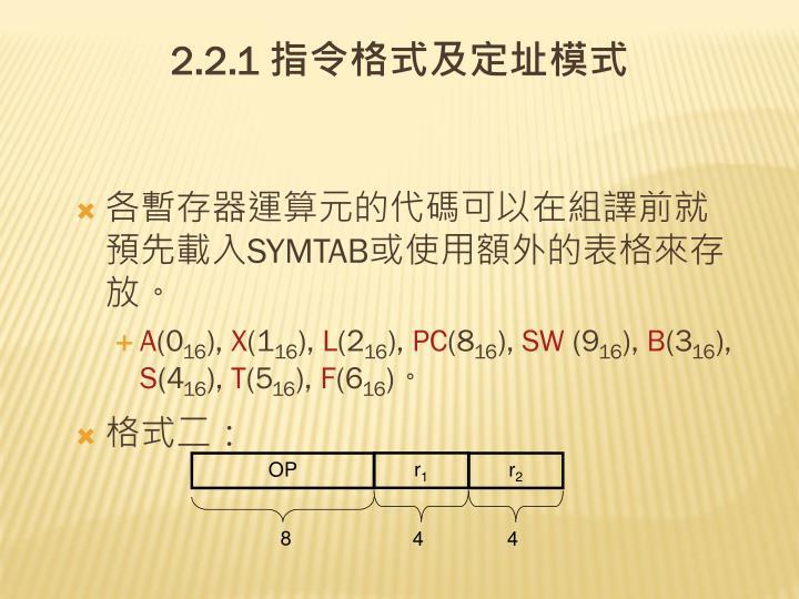 各暫存器運算元的代碼可以在組譯前就預先載入