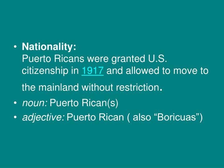 Nationality: