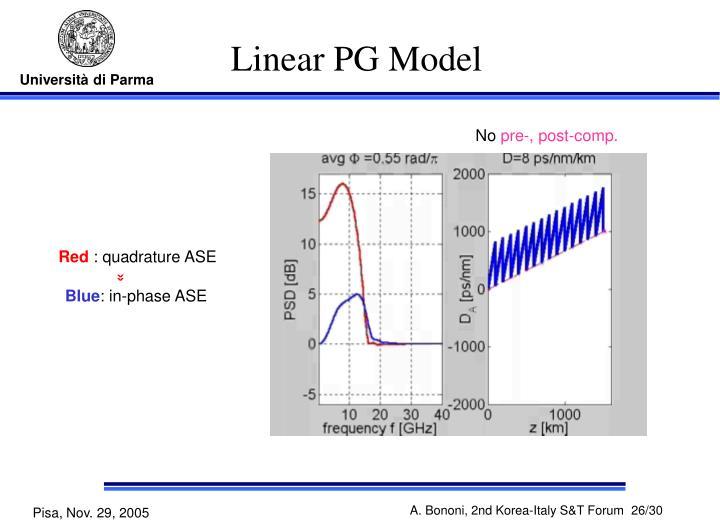 Linear PG Model