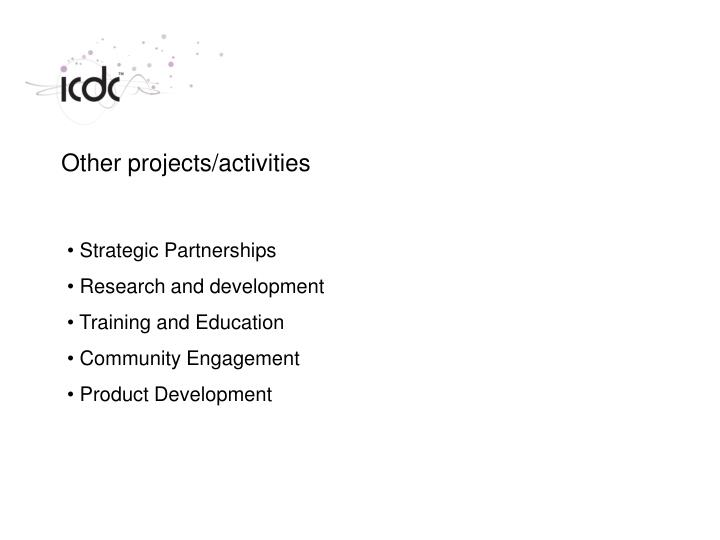 Other projects/activities