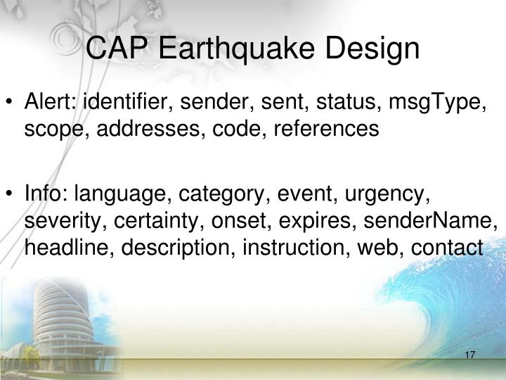 CAP Earthquake Design