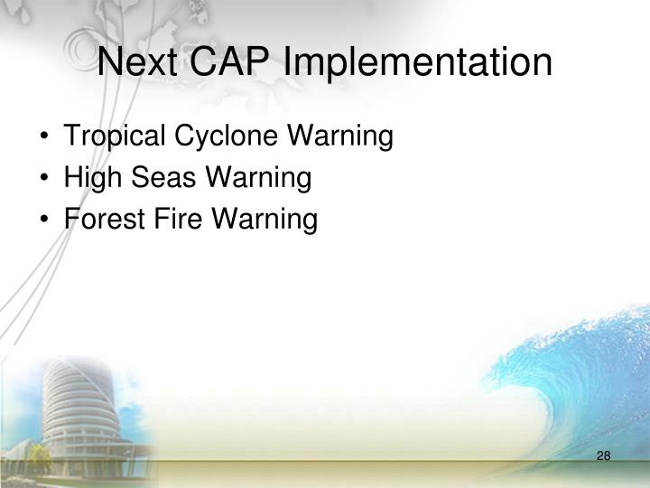 Next CAP Implementation