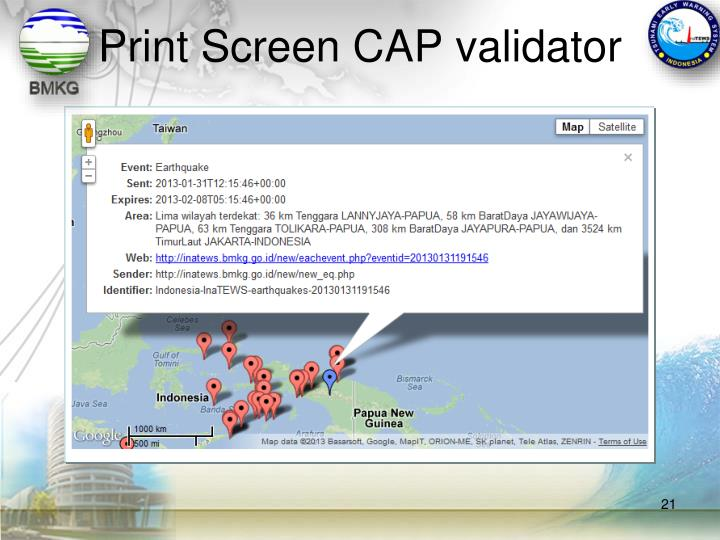 Print Screen CAP validator