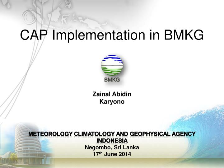 CAP Implementation in BMKG
