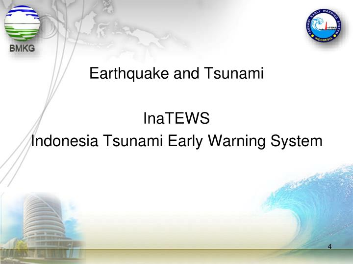 Earthquake and Tsunami
