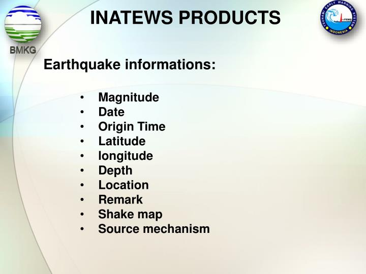 INATEWS PRODUCTS