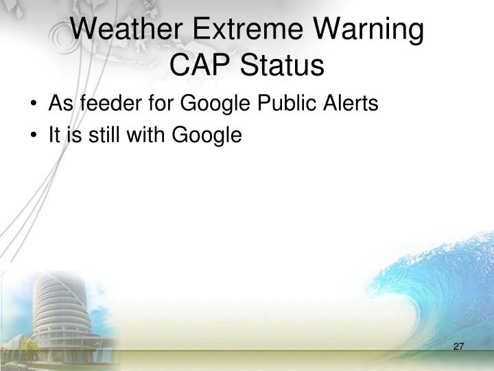 Weather Extreme Warning