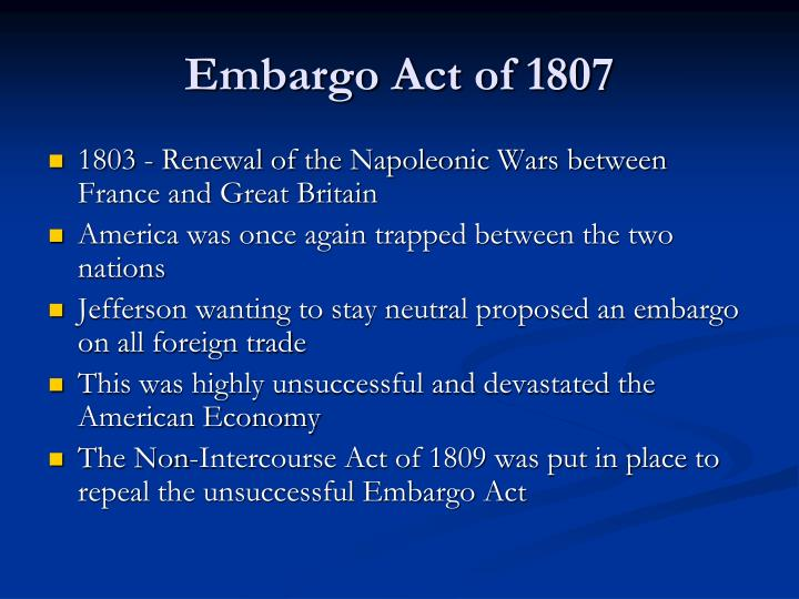Embargo Act of 1807