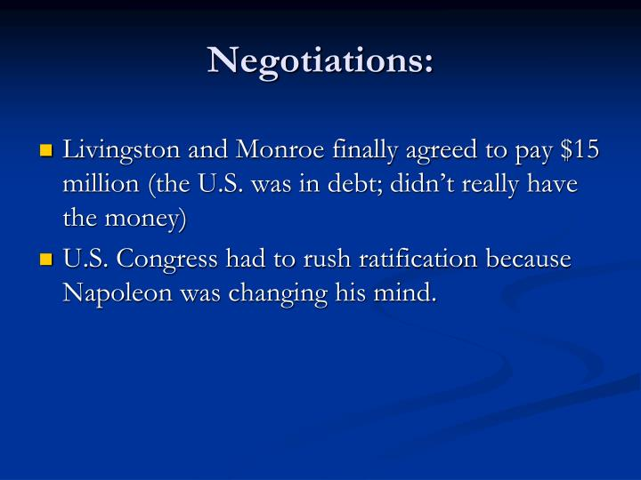 Negotiations: