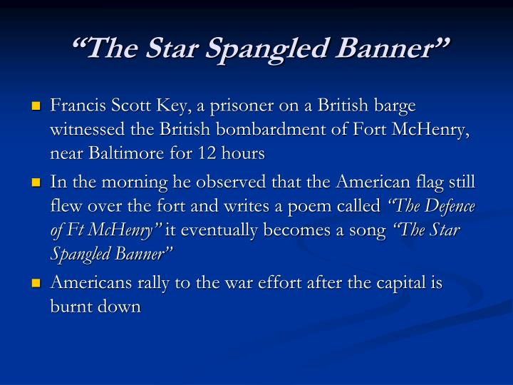 """The Star Spangled Banner"""