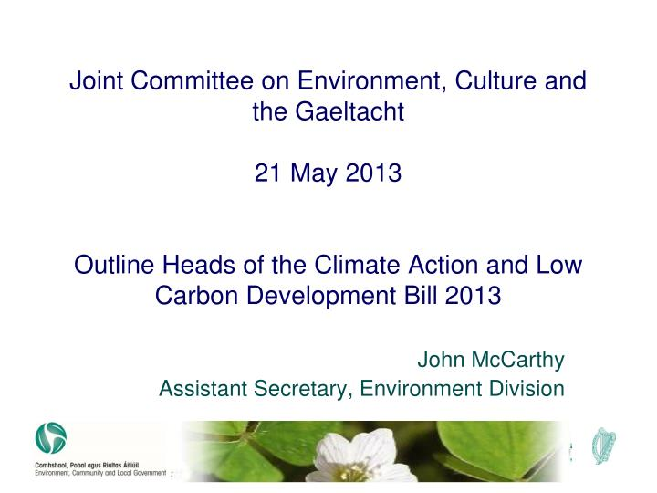 Joint Committee on Environment, Culture and the Gaeltacht