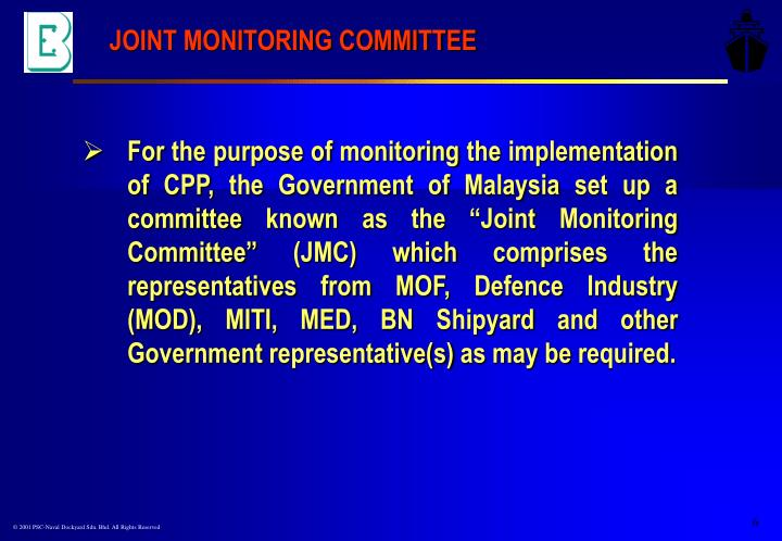 JOINT MONITORING COMMITTEE