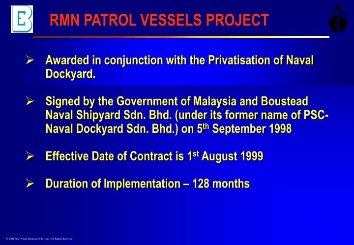 RMN PATROL VESSELS PROJECT