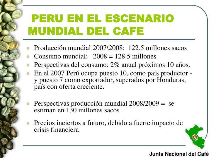 PERU EN EL ESCENARIO MUNDIAL DEL CAFE