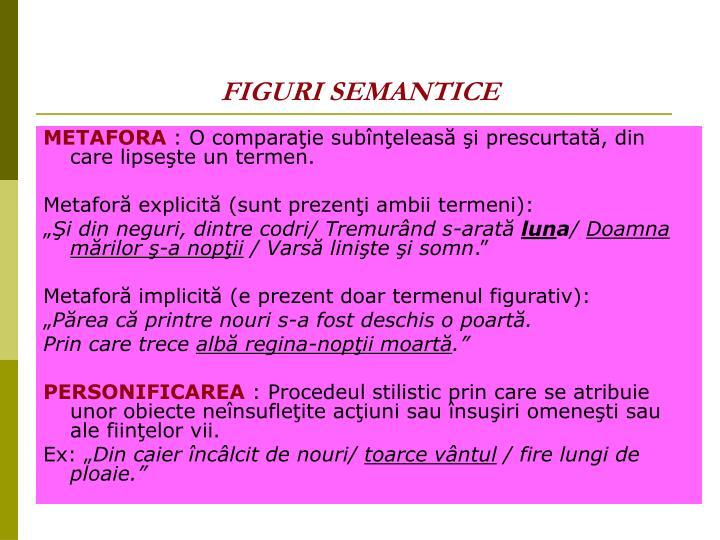 FIGURI SEMANTICE