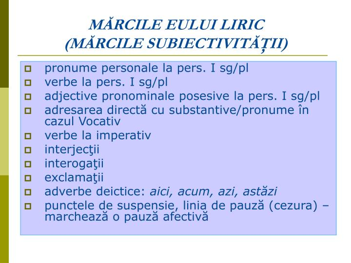 MĂRCILE EULUI LIRIC