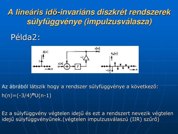 A lineáris idő-invariáns diszkrét rendszerek súlyfüggvénye (impulzusválasza)