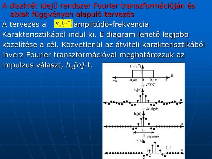 A diszkrét idejű rendszer Fourier transzformációján és ablak függvényen alapuló tervezés