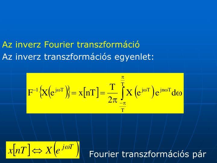 Az inverz Fourier transzformáció