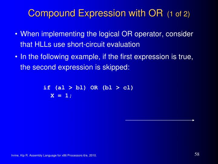 Compound Expression with OR