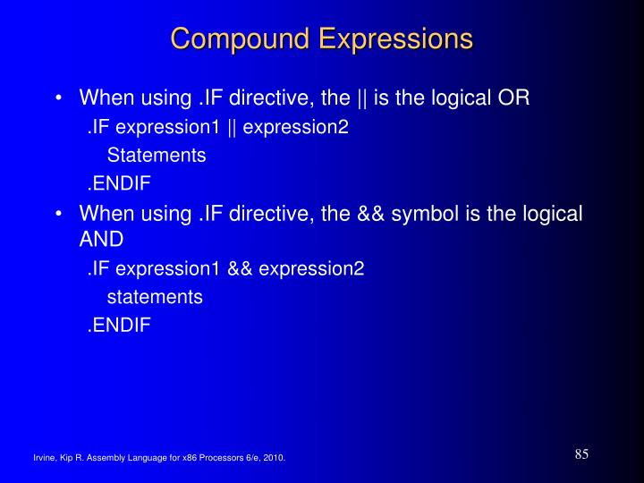 Compound Expressions
