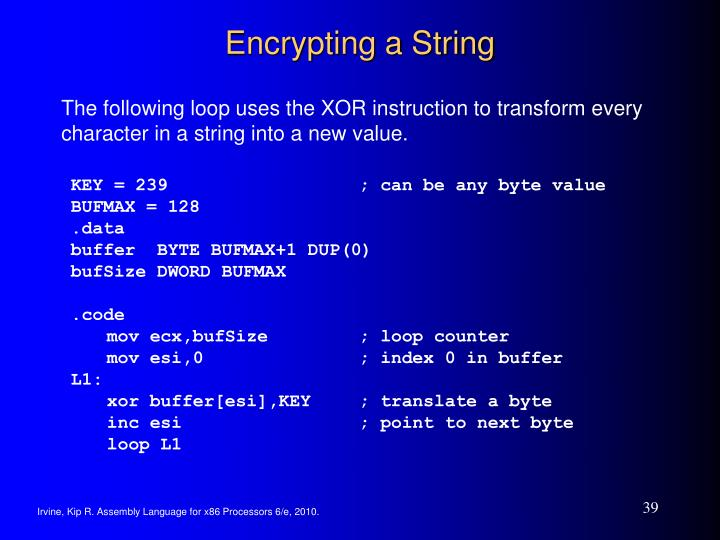 Encrypting a String