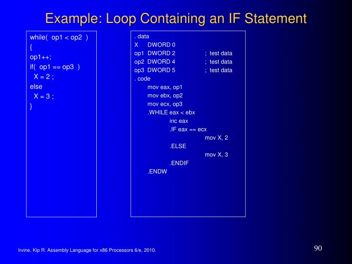 Example: Loop Containing an IF Statement