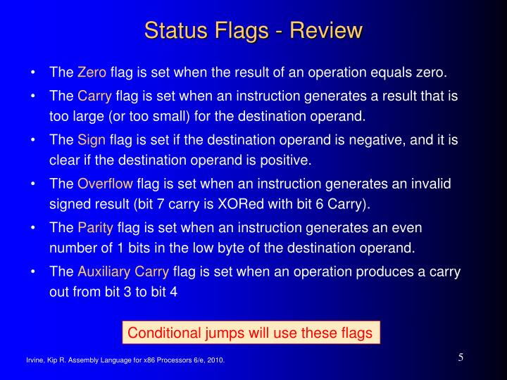 Status Flags - Review