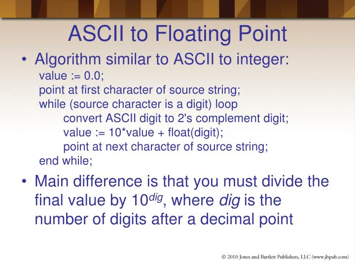 ASCII to Floating Point