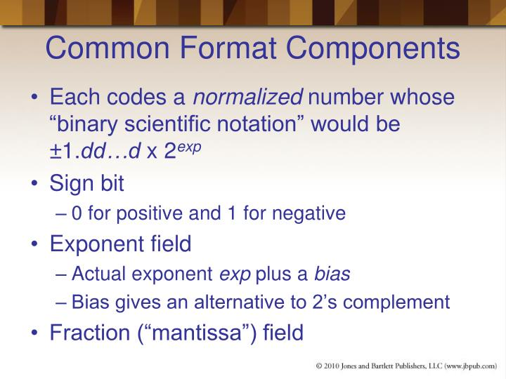 Common format components
