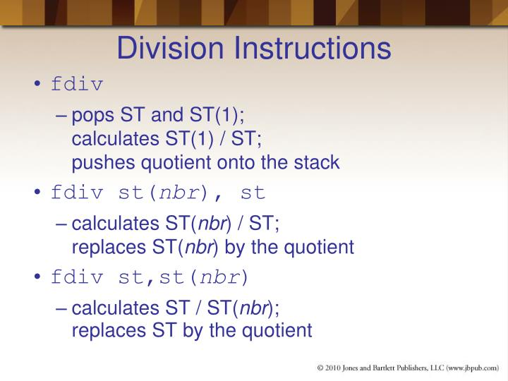 Division Instructions