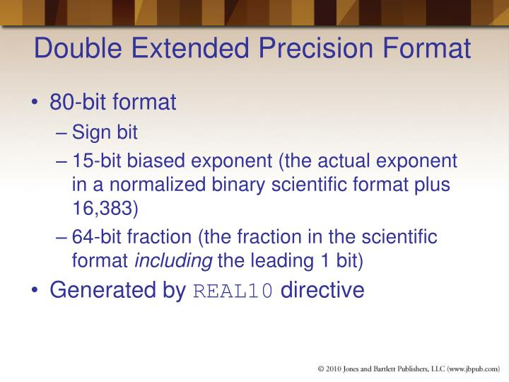 Double Extended Precision Format
