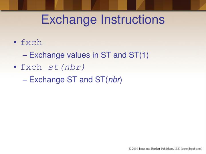 Exchange Instructions