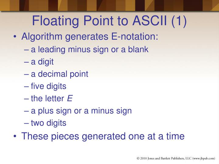 Floating Point to ASCII (1)