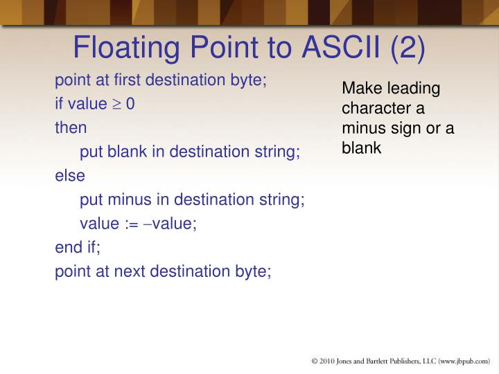 Floating Point to ASCII (2)