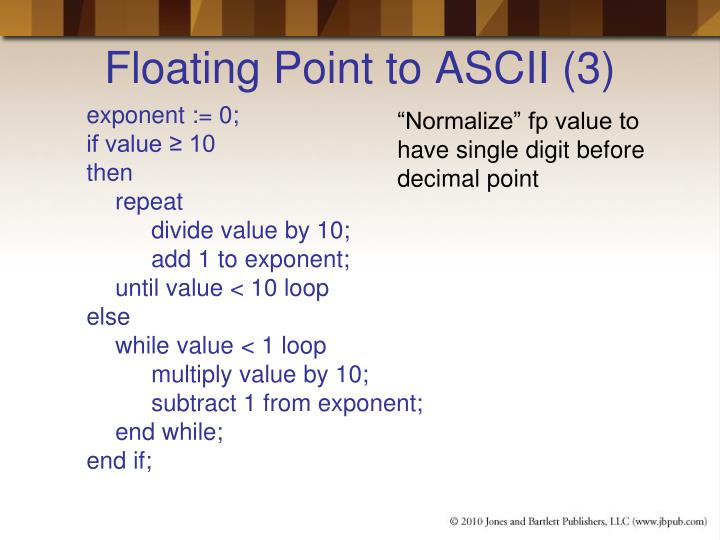 Floating Point to ASCII (3)