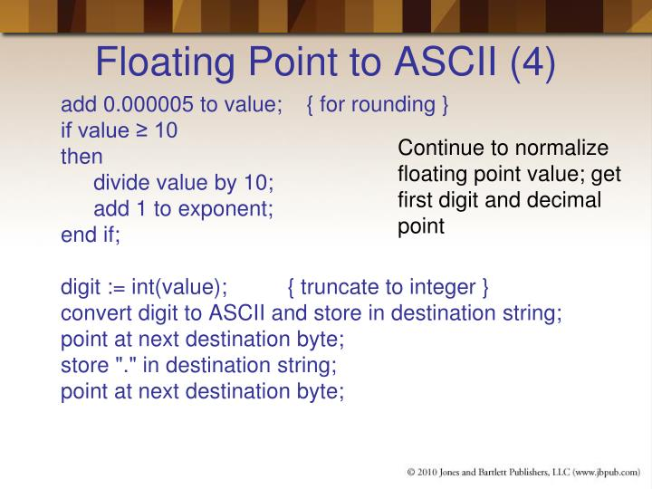 Floating Point to ASCII (4)