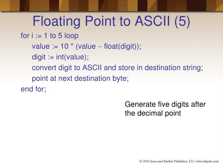 Floating Point to ASCII (5)