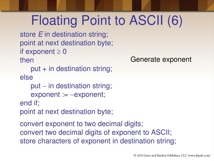 Floating Point to ASCII (6)