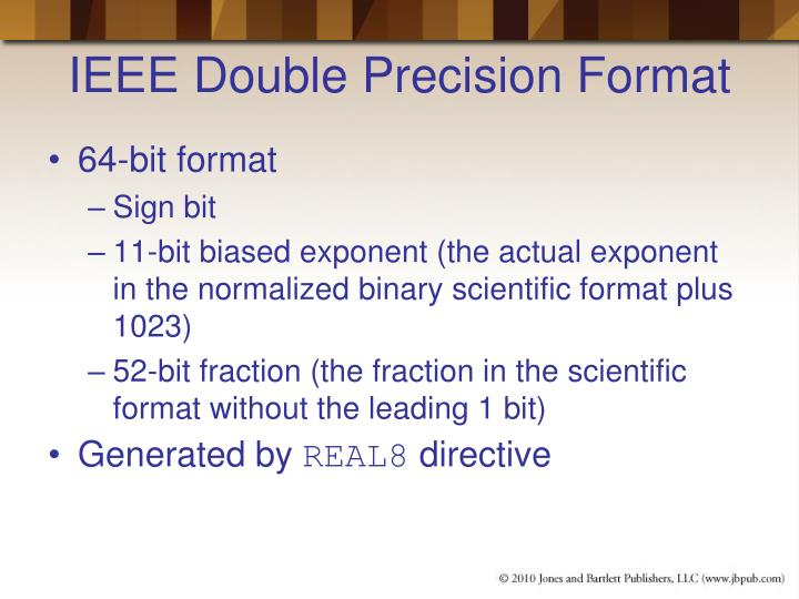IEEE Double Precision Format