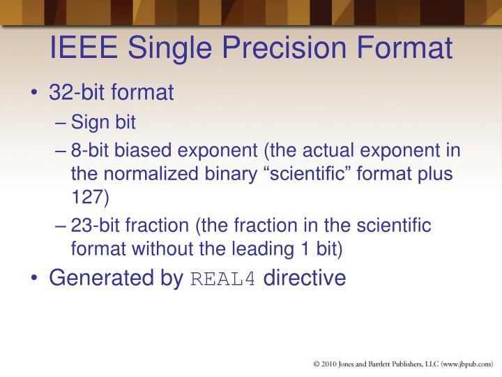 IEEE Single Precision Format