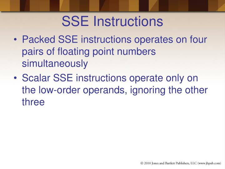 SSE Instructions