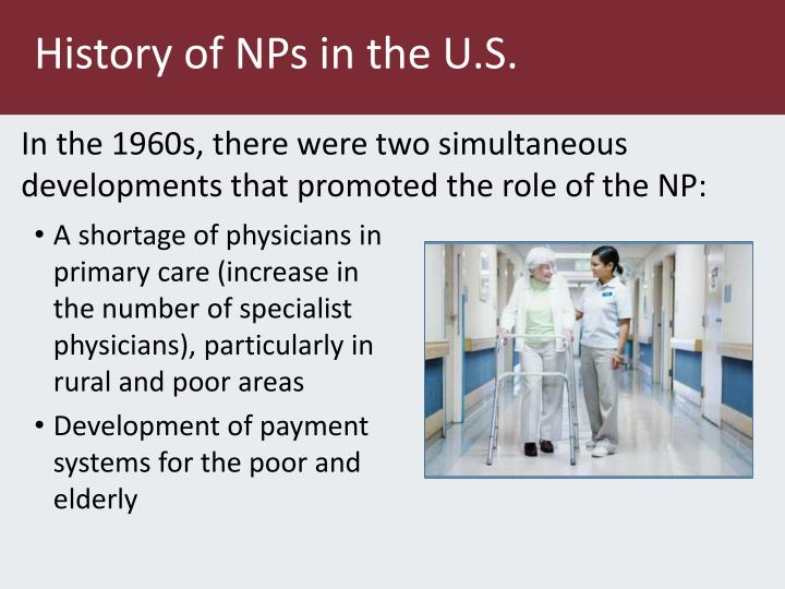 History of NPs in the U.S.