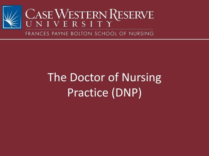 The Doctor of Nursing