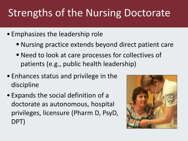 Strengths of the Nursing Doctorate