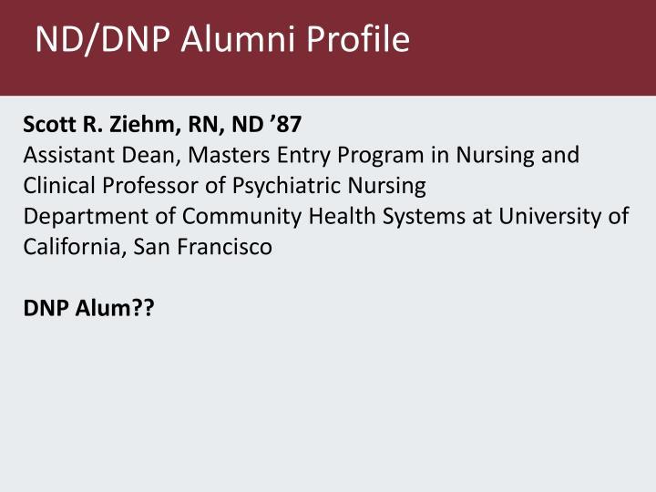 ND/DNP Alumni Profile