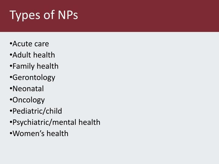 Types of NPs