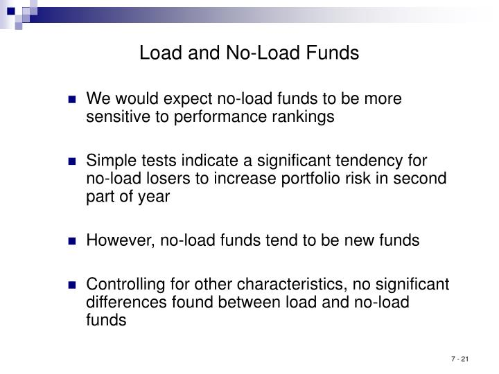 Load and No-Load Funds