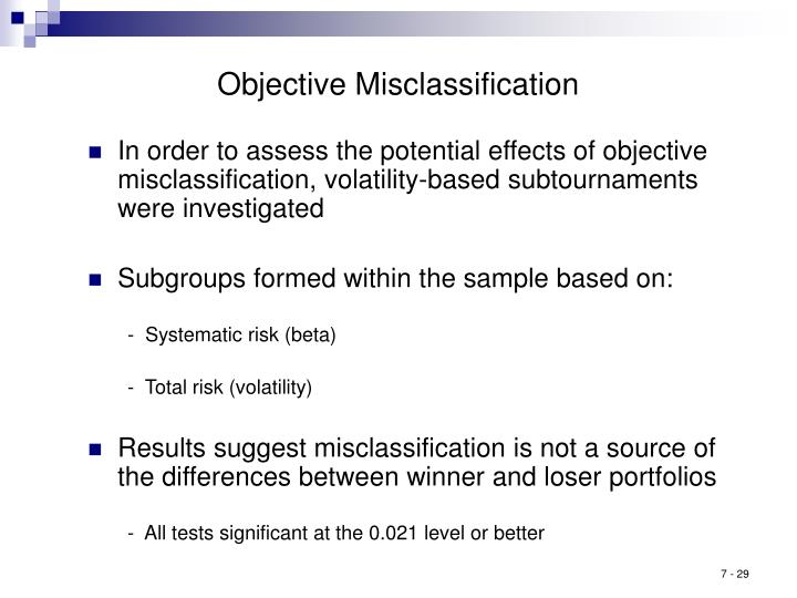 Objective Misclassification